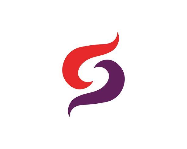 S logo y símbolo vector s