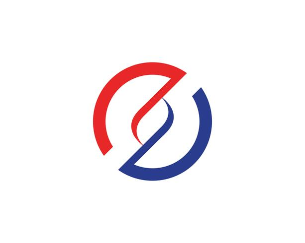Kreislinie Logo Template-Vektorikone