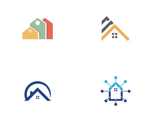 Wohngebäude Logo und Symbole Symbole vektor