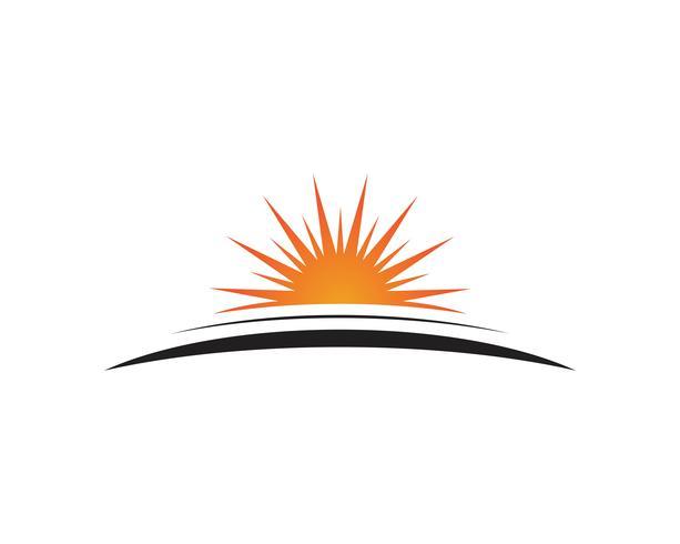 sol vektor illustration ikon