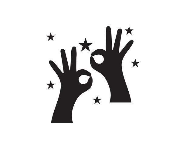Vecteur de logo de soins de la main