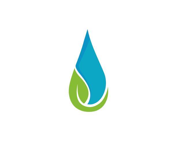 Logotipos de cor preta de gota de água n