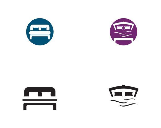 Logo de lit logo et symbole hôtel entreprise vecteur