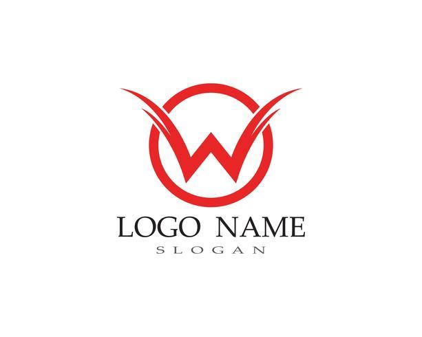 W lettere logo aziendale e simboli