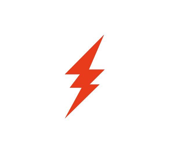 Flash coup de foudre logo template vecteur