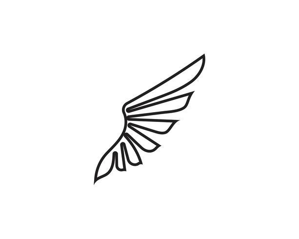 Vettore di progettazione dell'illustrazione di vettore del modello di Logo del nero dell'ala