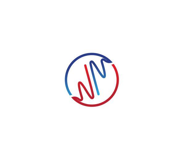 Hjärtslag sjukhus linje logotyp vektorer