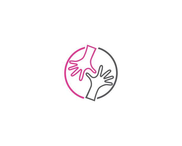 Handpflege Logo Template-Vektorikone Geschäft
