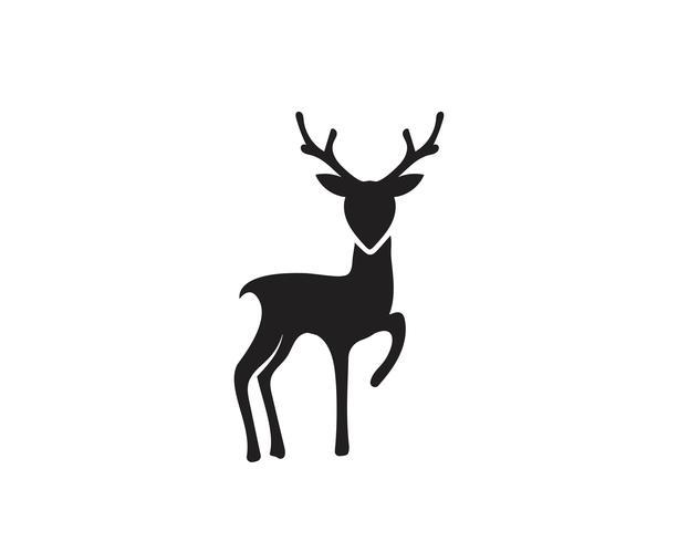 De illustratieontwerp van het herten vectorpictogram