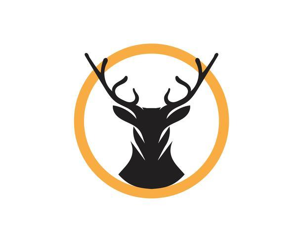 Progettazione dell'illustrazione dell'icona di vettore dei cervi
