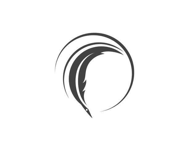 feather logo vector template sign
