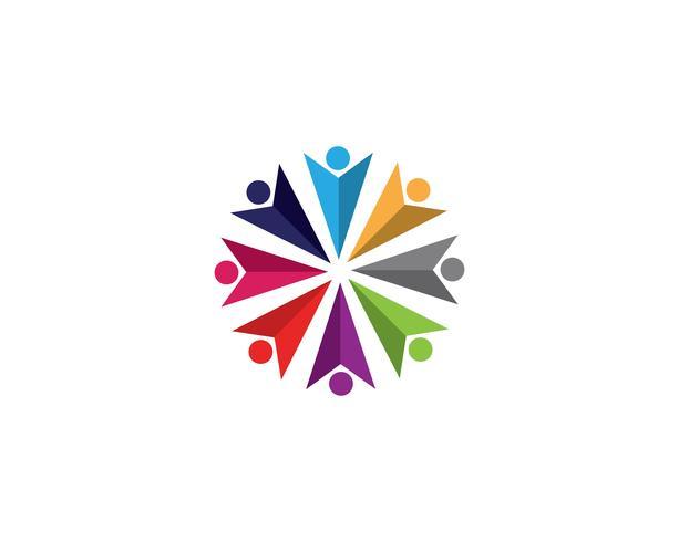 Comunidad, red e icono social.