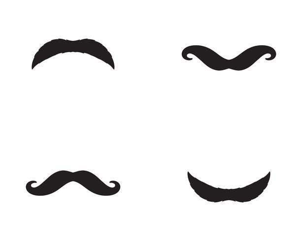 Schnurrbart Logo Vektor Vorlage