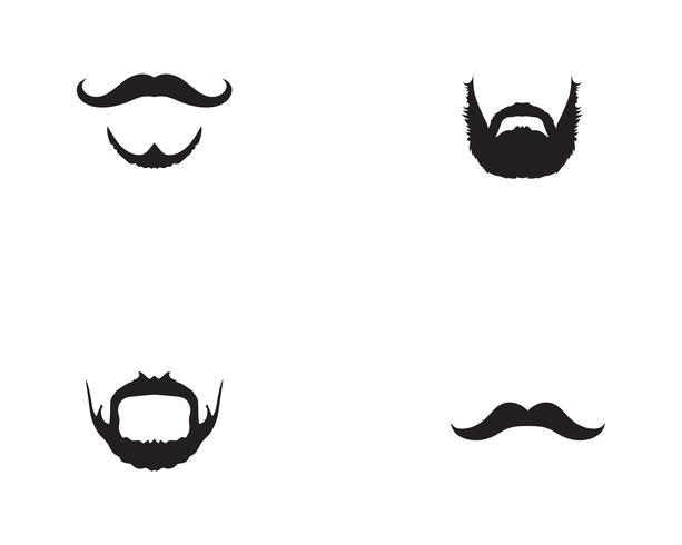 moustache logo vector template