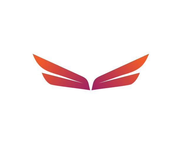 Wing-logo en symbool zakelijke sjabloon
