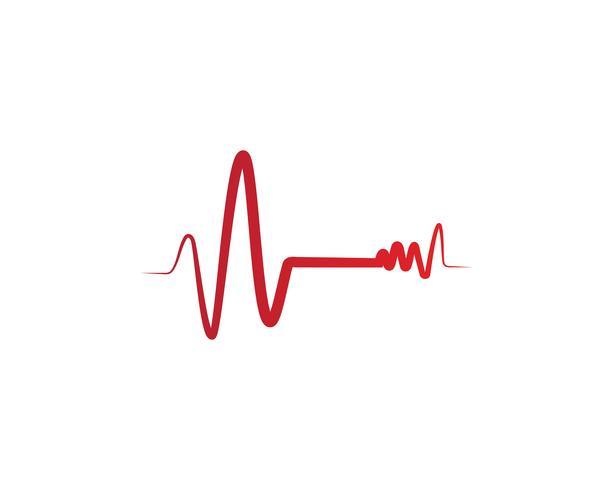 Vecteurs de logo de ligne hôpital battement de coeur