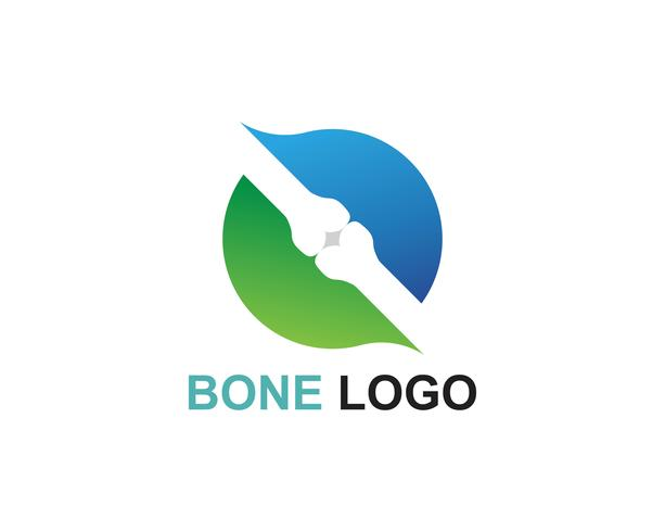 Bone logo vector template vector