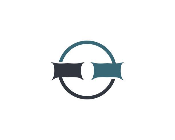 Bed Logo und Symbol Hotel Business Logo Vektor