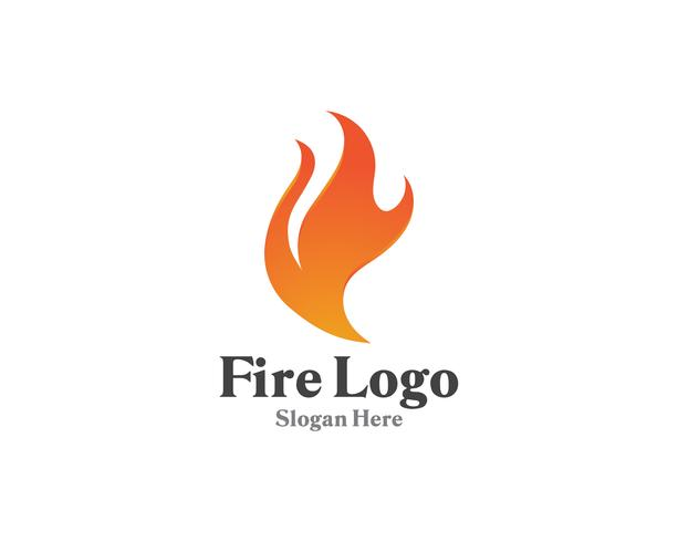 Fuoco logo simbolo gas e olio vettore