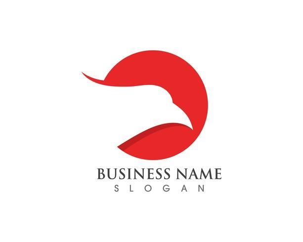 Eagle hoofd valk logo en symbool