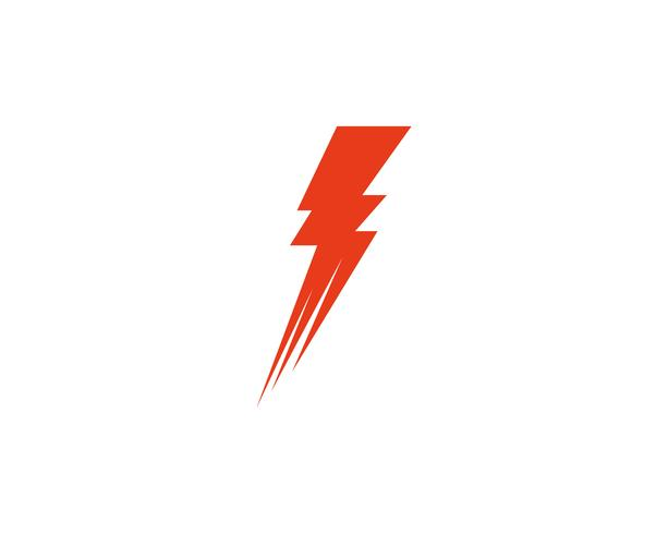 Flash thunderbolt logo template  vector