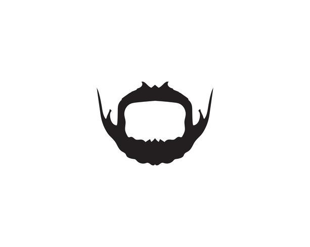 modello di vettore di logo di baffi