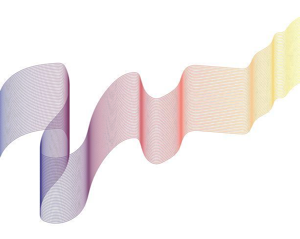 Vettori di illustrazione linea d'onda