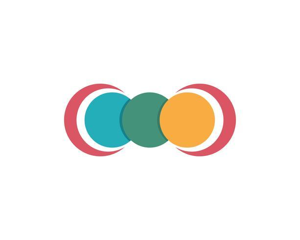 Cirkellinje Logo Mall vektorikonen