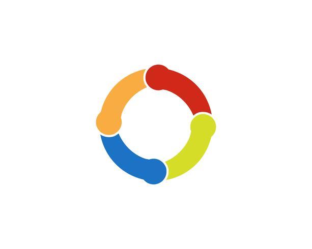 Icona del cerchio linea Logo Template vettoriale
