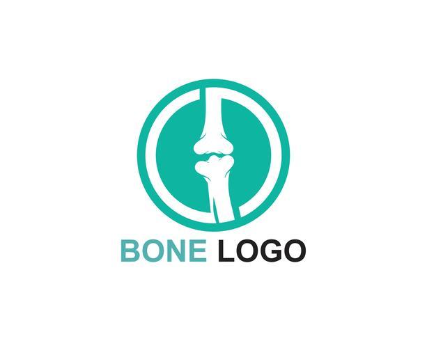 Knochen Logo Vektor Vorlage Vektor