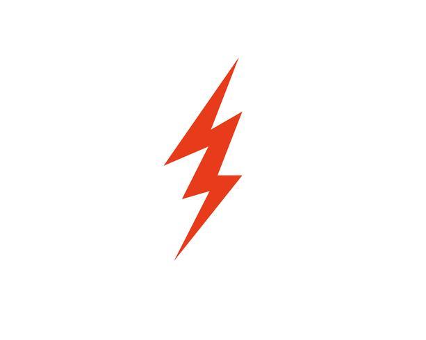 Vetor de modelo de logotipo de thunderbolt Flash