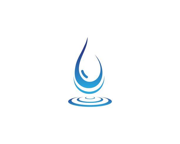 Goccia d'acqua Logo Template vettoriale