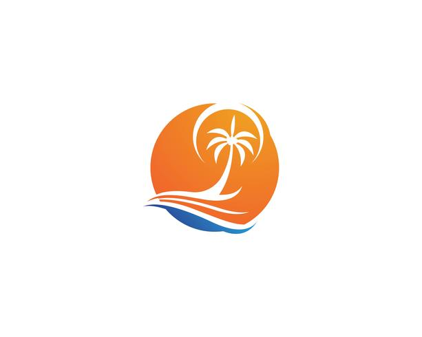 Palm Tree Summer Logo Vorlage