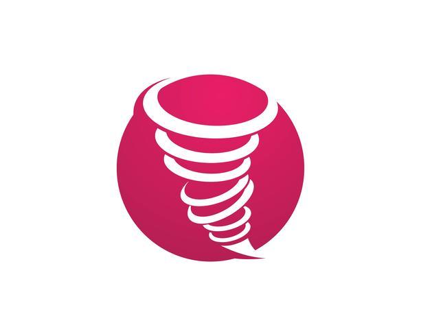 Ilustración de vector de símbolo de tornado
