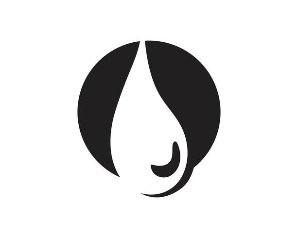 Goutte d'eau noir n couleur logos
