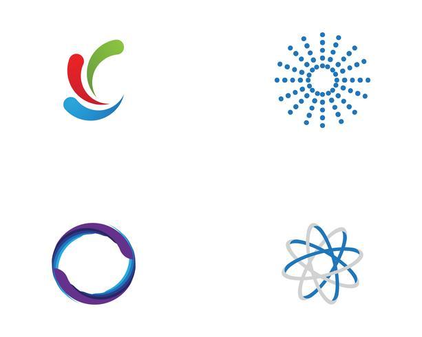cerchio logo e simboli Vettore