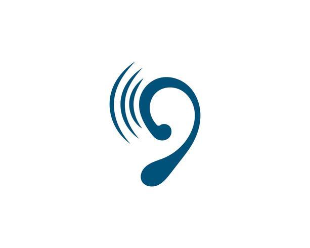 Hörande logotyp Mall vektorikonen