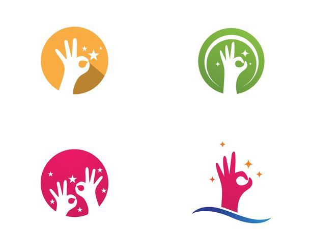 Handpflege-Logo-Vektor