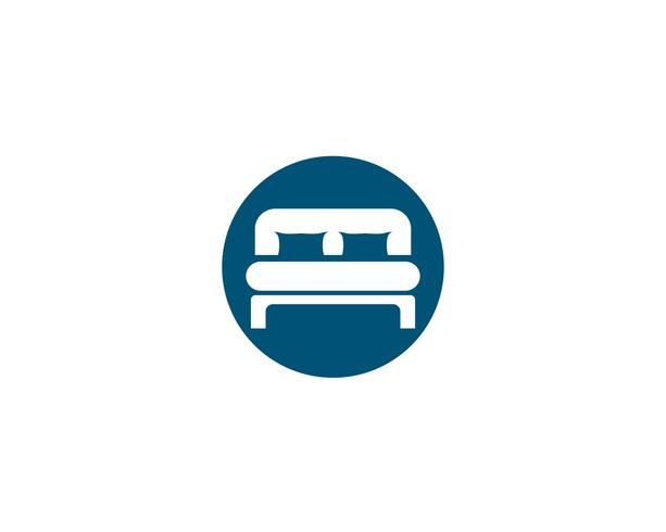 Bed Logo und Symbol Hotel Business Logo Vektor
