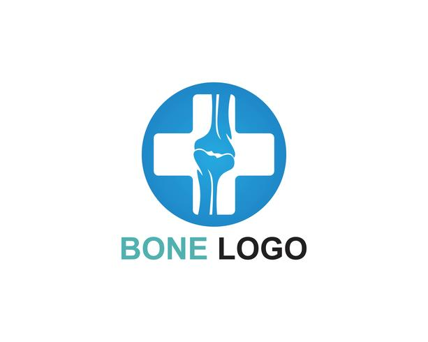 Vetor de modelo de vetor de logotipo de osso