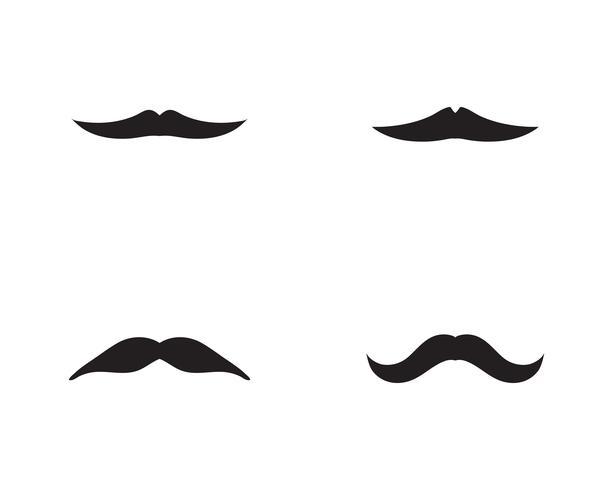 modèle de vecteur logo moustache
