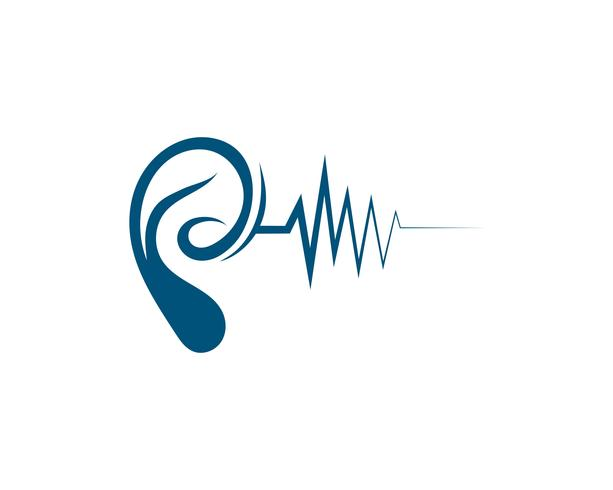 Hearing Logo Template vector icon