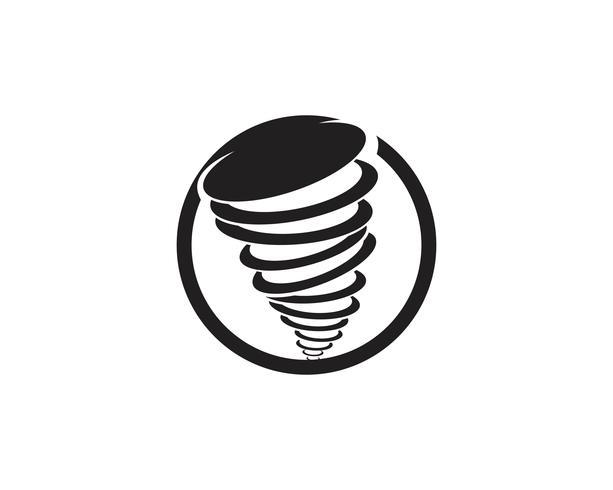 Tornado-Symbol-Vektor-Illustration