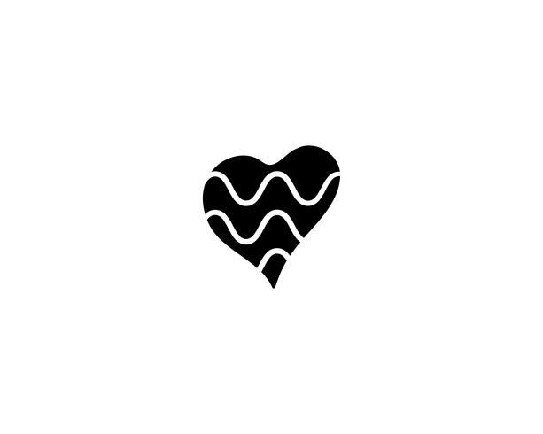 Modèles de logo symbole coeur d'amour