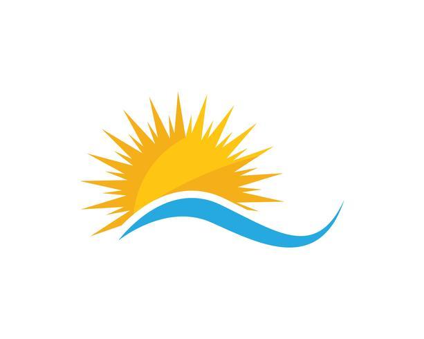 Icona di illustrazione vettoriale di sole