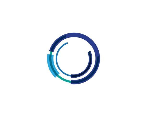 Cirkel lijn Logo sjabloon vector pictogram