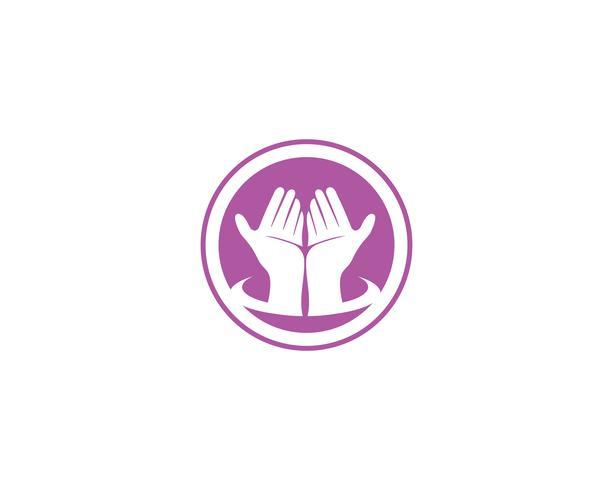 Hand Care Logo Template vector pictogram Zakelijk