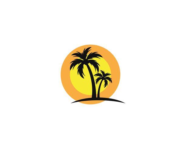 Palm Tree Summer Logo Vorlage