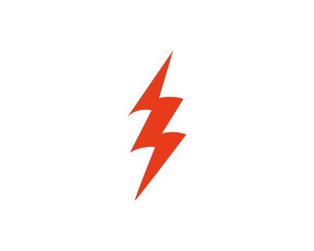 Vector de plantilla de logotipo Flash thunderbolt
