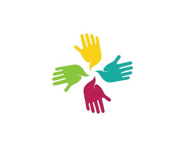 Handpflege Logo Template Vektor Icon Geschäft - Vektoren